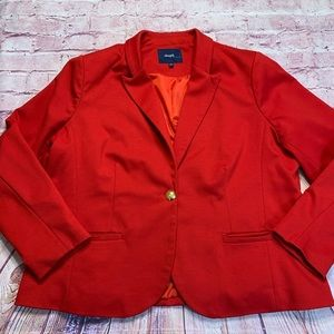 Eloquii by The Limited Womens Size 22W Red Blazer